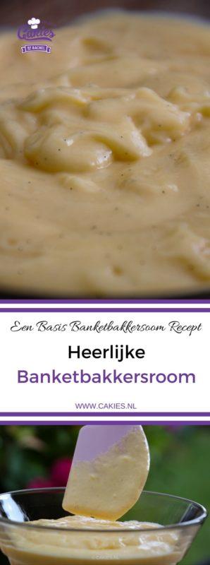 Banketbakkersroom is een heerlijke custard of pudding, lekker als vulling voor soesjes of taarten. Banketbakkersroom is makkelijk zelf te maken. Basis Banketbakkersroom Recept.