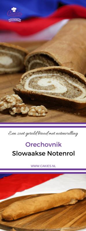 Orechovnik is een notenrol of notenbrood. Een heerlijk zoet brood met een notenvulling. Orechovnik is een favoriet in menig Oost-Europees land. #notenbrood #recepten #zoetbrood