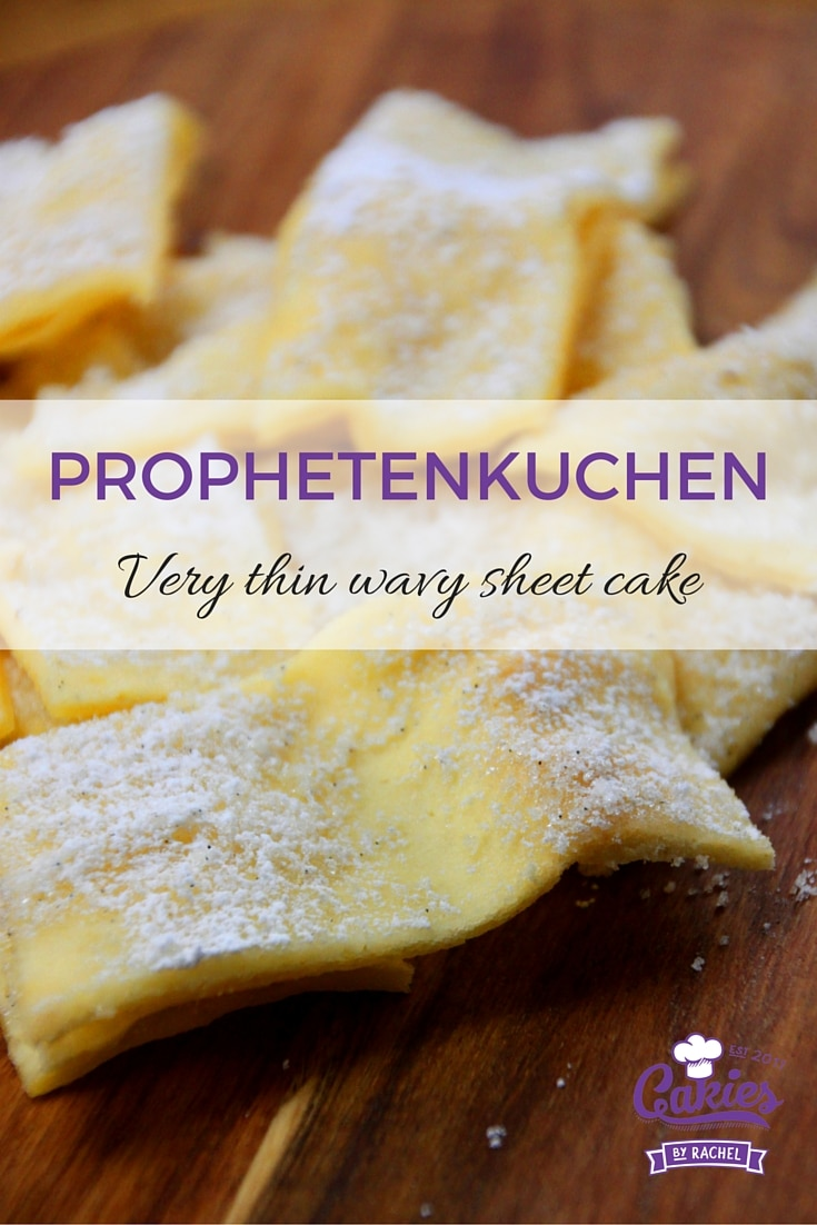 Prophetenkuchen. German Prophetcake. A thin wavy sheetcake dusted with sugar.