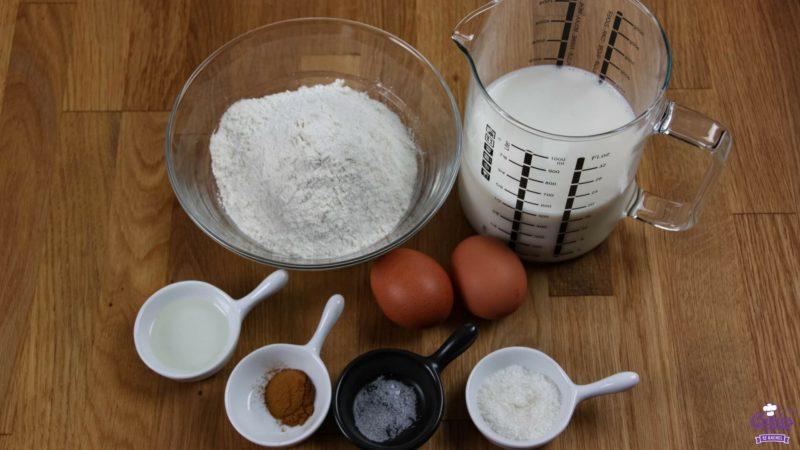 Pannenkoeken ingrediënten foto van boven