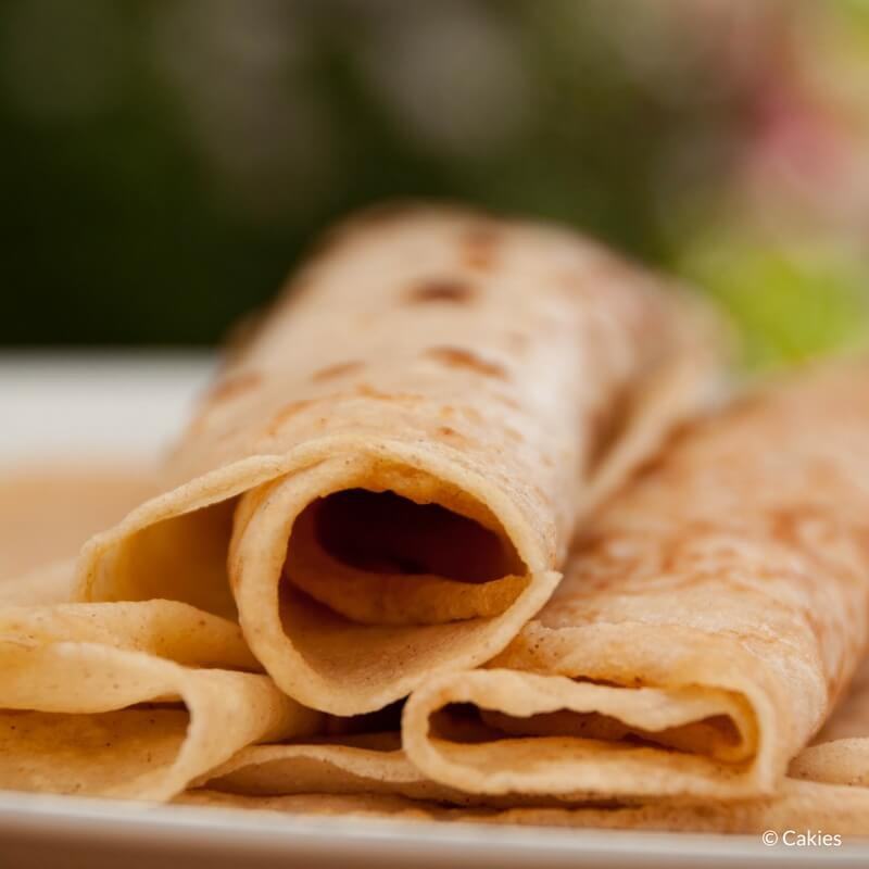 Dutch pancakes (pannenkoeken) are kind of a cross between an American pancake and a French crêpe. In the Netherlands pancakes are often eaten for dinner.