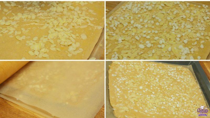 Jan Hagel Koekjes Recept | Jan Hagel Koekjes zijn een typisch Hollands koekje. Een heerlijk bros koekje met een vleugje kaneel, bedekt met amandelen en parelsuiker. | https://www.cakies.nl | Stap 06