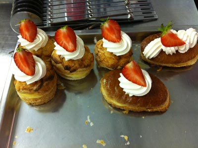 What it could've looked like all finished off with pastry cream inside and whipped cream on top