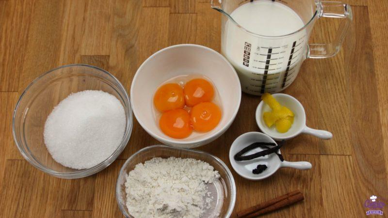 Basis Banketbakkersroom Recept | Banketbakkersroom is een heerlijke custard of pudding, lekker als vulling voor soesjes of taarten. Banketbakkersroom is makkelijk zelf te maken.| https://www.cakies.nl | Stap 01