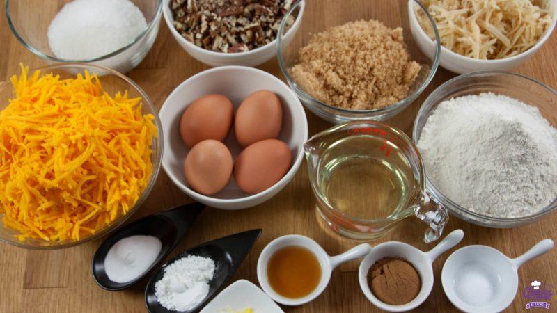 Ingrediënten pompoen cake
